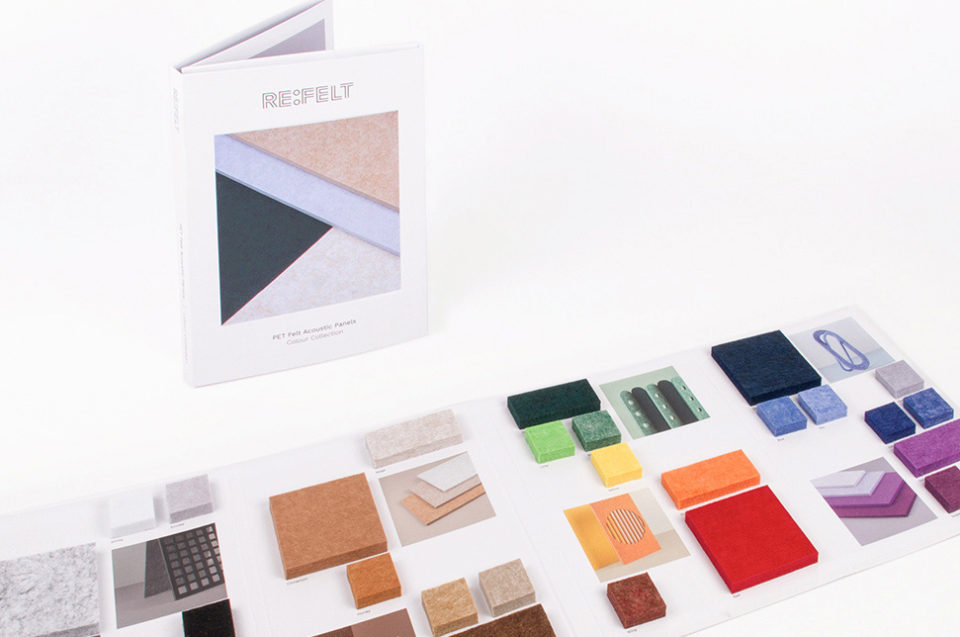 ReFelt PET Felt Acoustic Panels Sample Folder