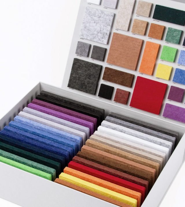 ReFelt PET Felt Acoustic Panels Colour Sample Box Interior