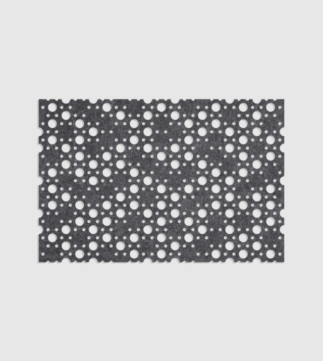 ReFelt PET Felt Acoustic Patterned Tileable Panel Dots Dark Grey
