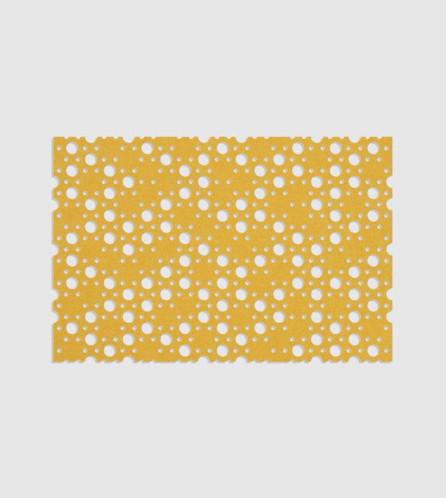 ReFelt PET Felt Acoustic Patterned Tileable Panel Dots Yellow