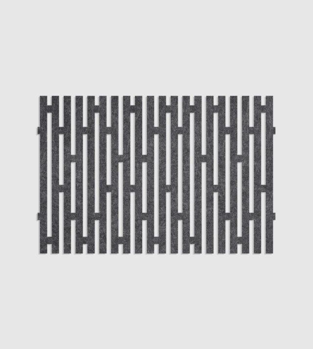 ReFelt PET Felt Acoustic Patterned Tileable Panel Stripes Dark Grey