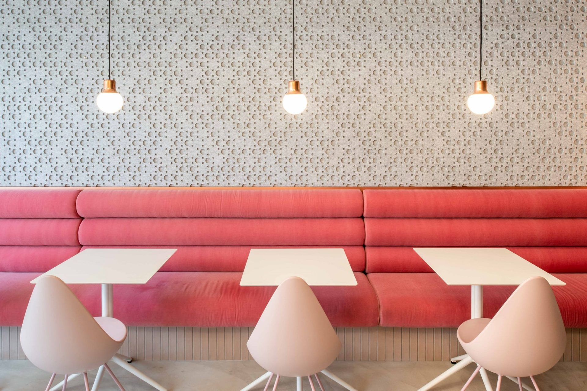 KOVA South Kensington interior with PET felt panels