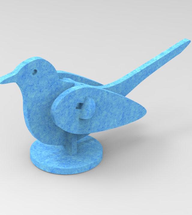 ReFelt Do Not DisturBird PET Felt - blue