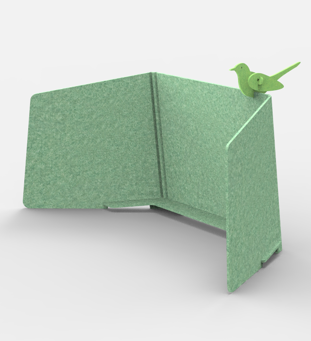 ReFelt Workplace Divider PET Felt - green