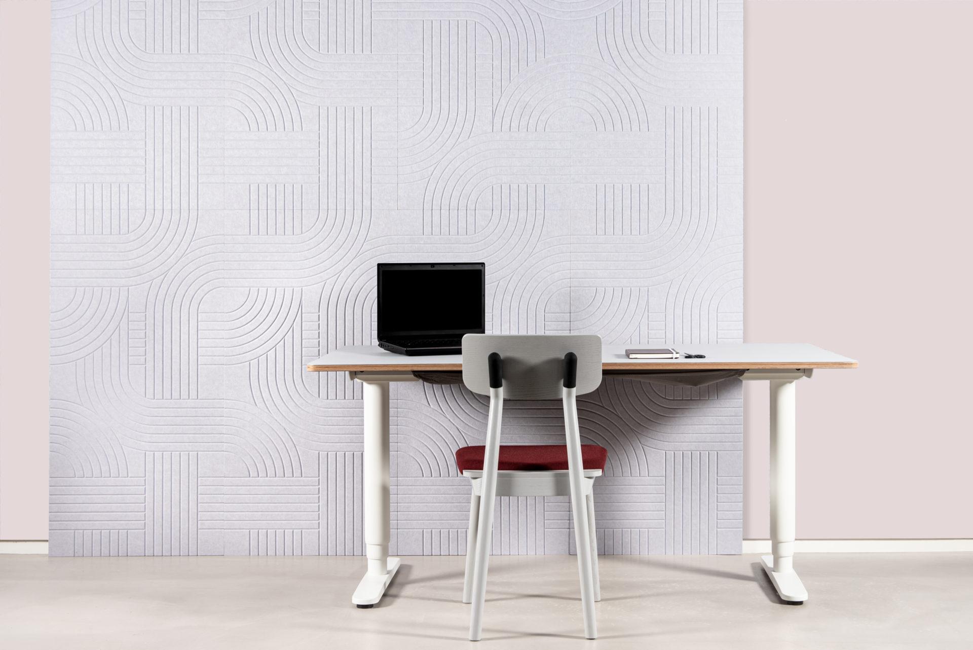 ReFelt Streets acoustic PET Felt v-cut panel 120x60 2