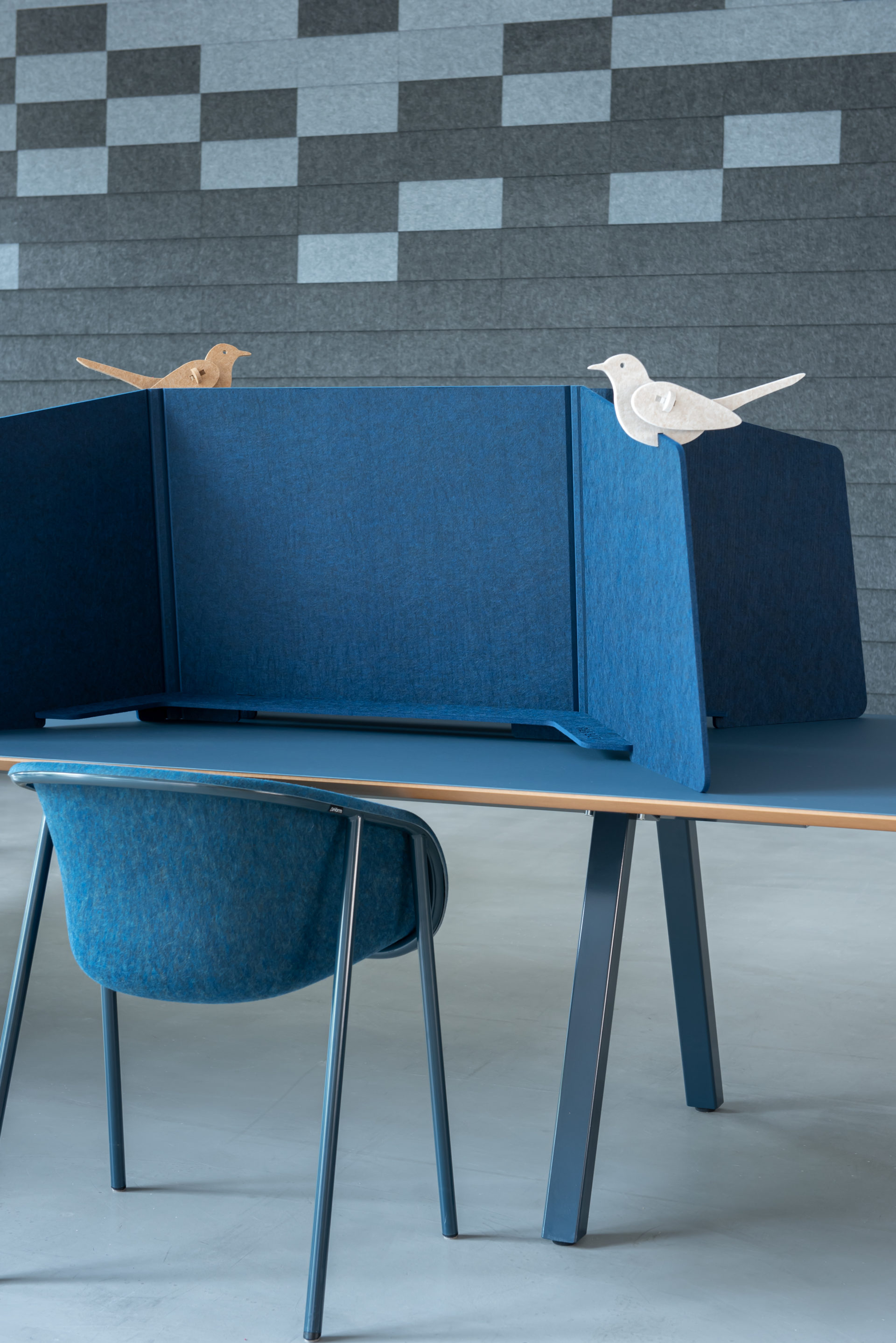 ReFelt PET Felt Workplace Divider 1.5m blue 1