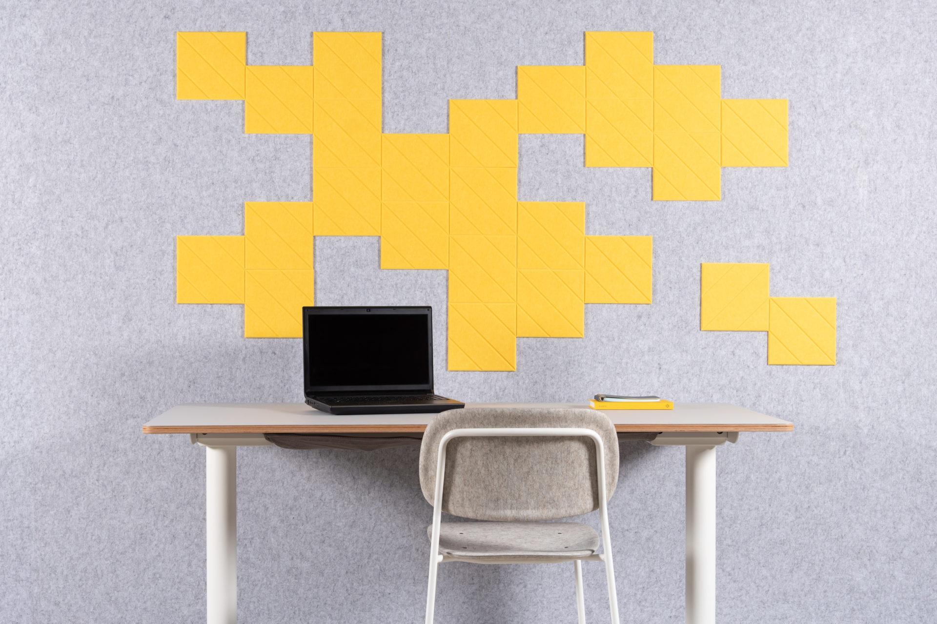 ReFelt PET Felt Diagonal Tiles Small for home office