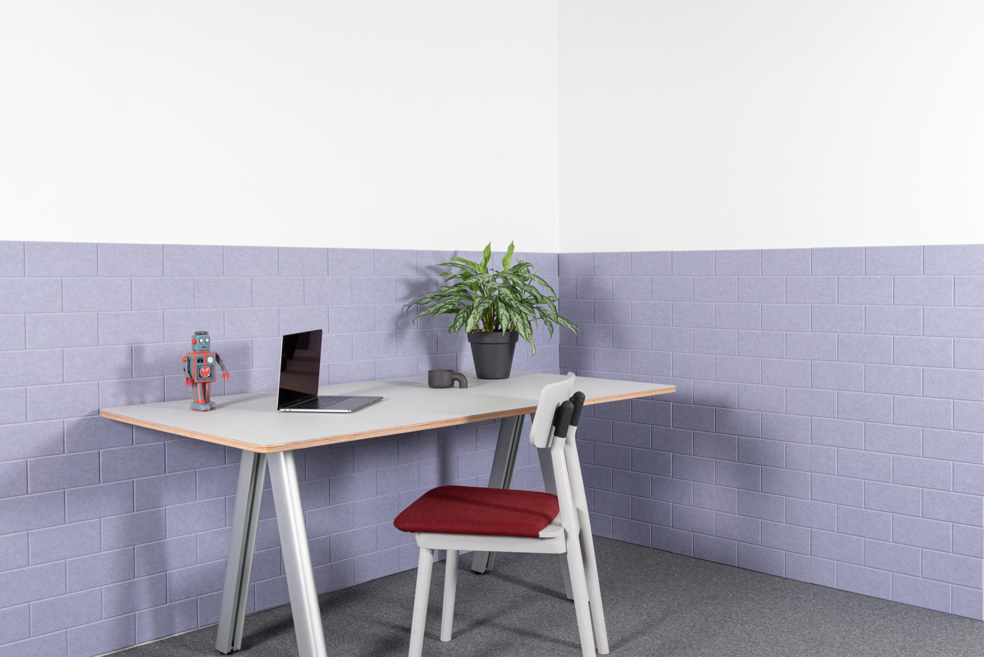 ReFelt - acoustic PET Felt panels Bricks office 1