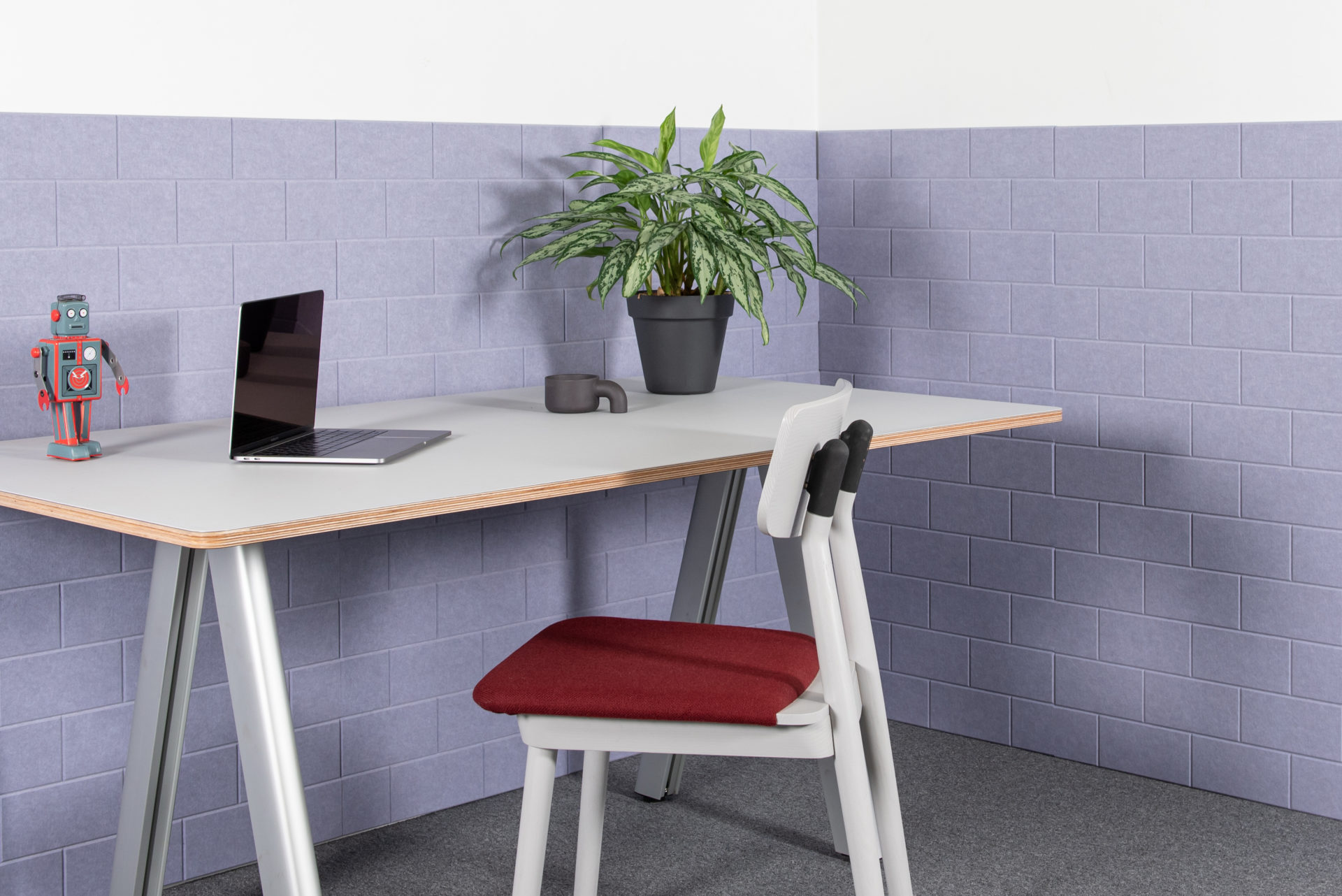 ReFelt - acoustic PET Felt panels Bricks office 2