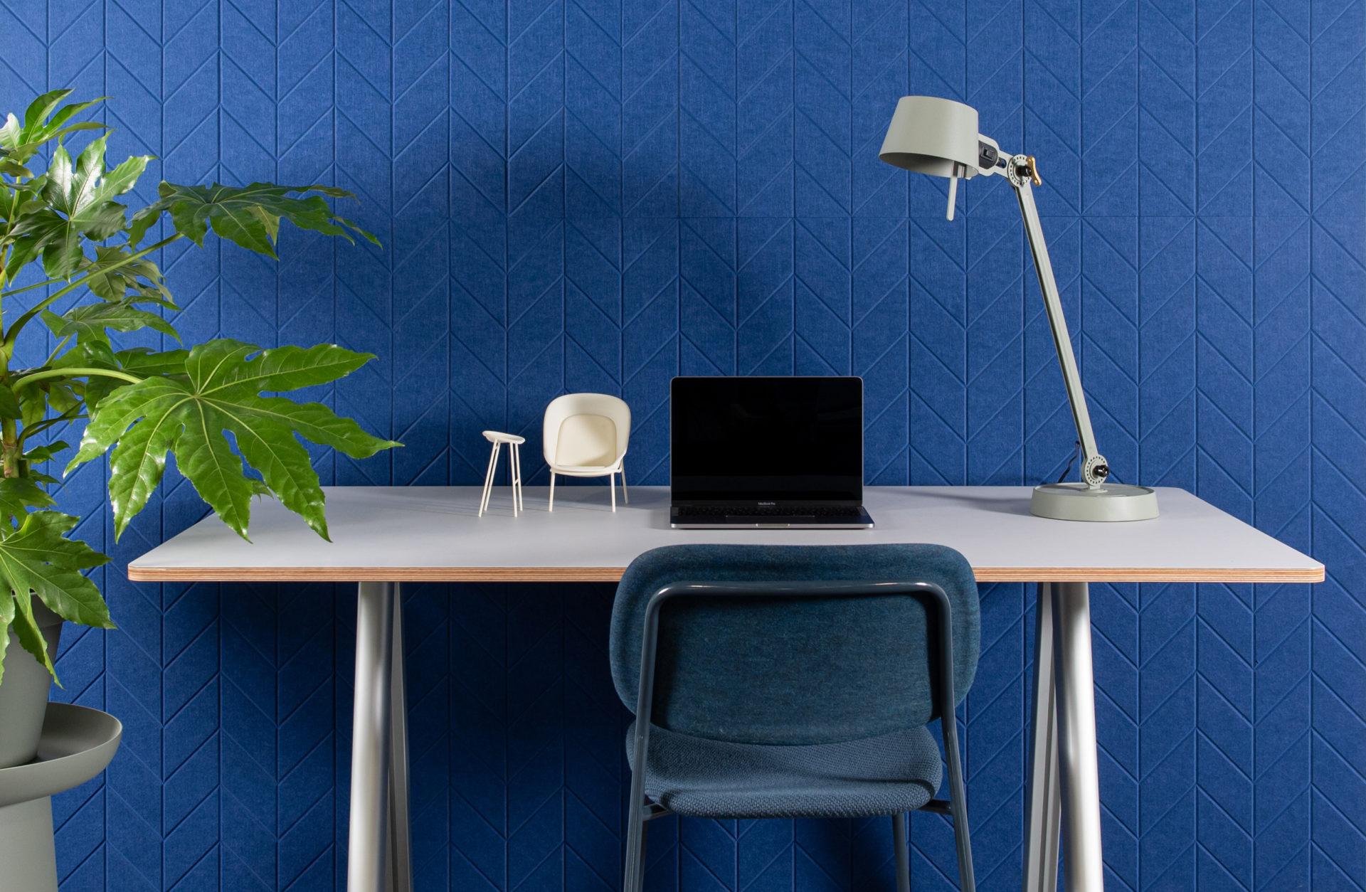 ReFelt - acoustic PET Felt panels Fishbone office 1