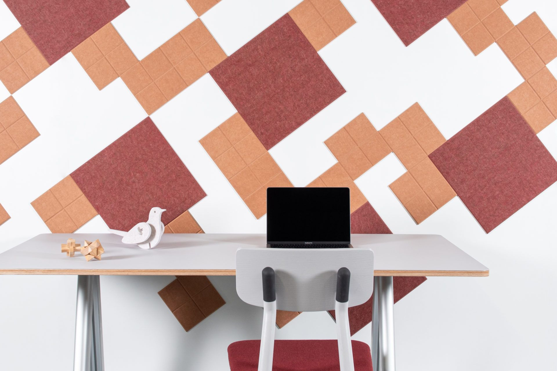ReFelt - acoustic PET Felt tiles squared smalloffice